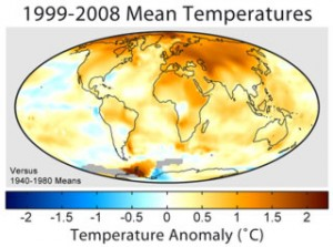 Scientific consensus shows a recent change in global temperatures