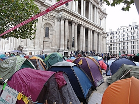 Occupy London camp (image by zoer, CC, Flickr)