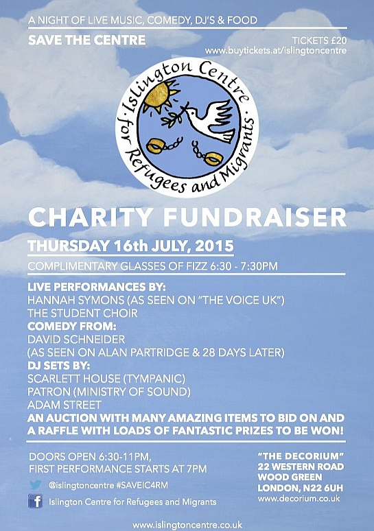 Islington Centre - Charity Fundraiser