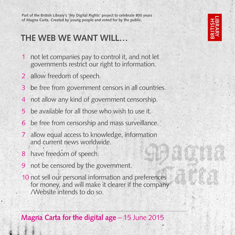 Magna Carta for the Digital Age (image from British Library)