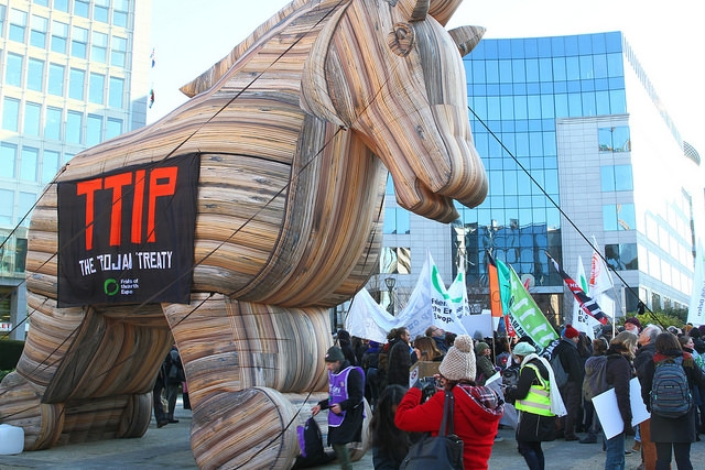 TTIP Trojan Horse (image by greensefa, Flickr, CC)